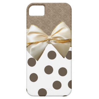 Vintage große Brown-Polka-Punkte iPhone 5 Case