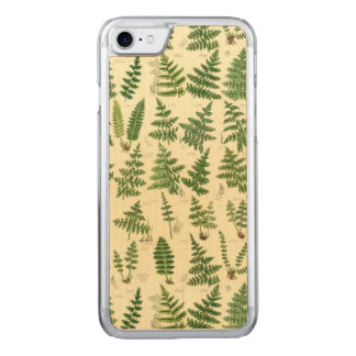 Vintage grüne belaubte Pflanzen Carved iPhone 8/7 Hülle