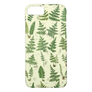 Vintage grüne belaubte Pflanzen iPhone 8/7 Hülle