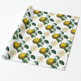 Vintage grüne botanische Illustration Apples Geschenkpapier