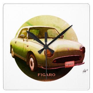 Vintage grüne Figaro klassische Quadratische Wanduhr