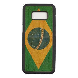 Vintage Grunge-Brasilien-Flagge Carved Samsung Galaxy S8 Hülle