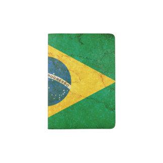 Vintage Grunge-Brasilien-Flagge Passhülle