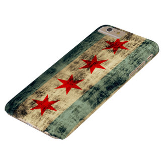Vintage Grunge-Chicago-Flagge Barely There iPhone 6 Plus Hülle