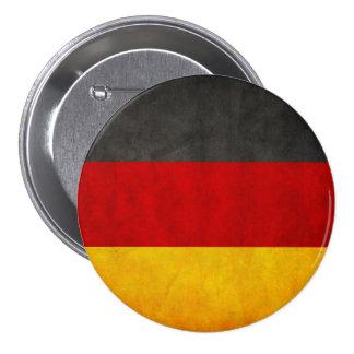 Vintage Grunge-Deutschland-Flaggedeutschland-Flagg Runder Button 7,6 Cm