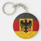 Vintage Grunge-Deutschland-Flaggedeutschland-Flagg Schlüsselanhänger