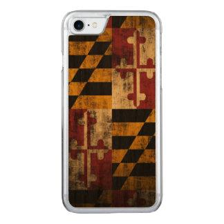 Vintage Grunge-Flagge von Maryland Carved iPhone 8/7 Hülle