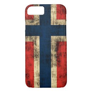 Vintage Grunge-Flagge von Norwegen iPhone 8/7 Hülle