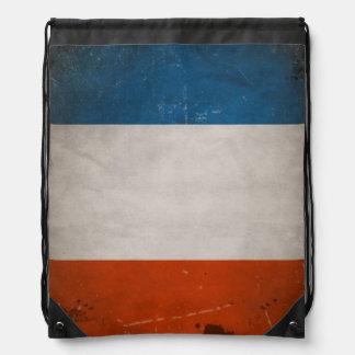 Vintage Grunge-Frankreich-Flagge Turnbeutel