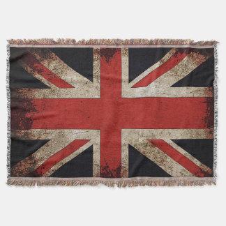 Vintage Grunge Großbritannien-Flagge Decke