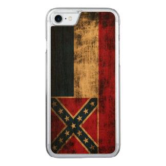 Vintage Grunge-Mississippi-Flagge Carved iPhone 8/7 Hülle