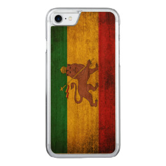 Vintage Grunge Rastafarian Flagge Carved iPhone 8/7 Hülle
