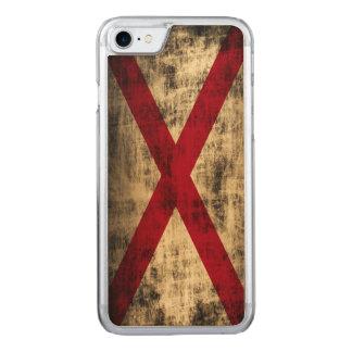 Vintage Grunge-Staats-Flagge von Alabama Carved iPhone 8/7 Hülle