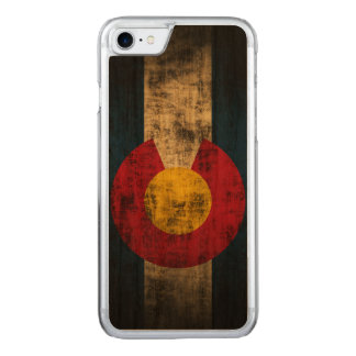 Vintage Grunge-Staats-Flagge von Colorado Carved iPhone 8/7 Hülle