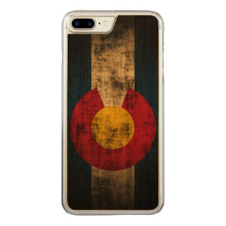 Vintage Grunge-Staats-Flagge von Colorado Carved iPhone 8 Plus/7 Plus Hülle