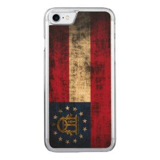 Vintage Grunge-Staats-Flagge von Georgia Carved iPhone 8/7 Hülle