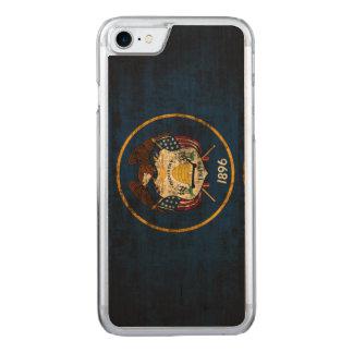 Vintage Grunge-Staats-Flagge von Utah Carved iPhone 8/7 Hülle