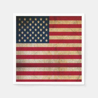 Vintage Grunge US-Flagge/-US Flagge Papierserviette