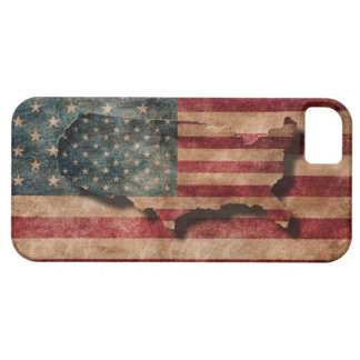 Vintage Grunge USA-Sterne u. Streifen-Flagge und iPhone 5 Case
