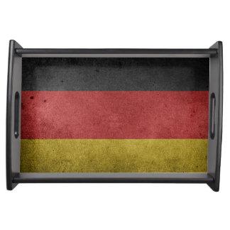 Vintage Grungeflagge von Deutschland Tablett