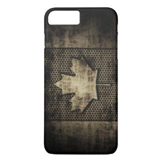 Vintage Grungy Metallblick-Kanadier-Flagge iPhone 8 Plus/7 Plus Hülle