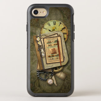 Vintage Grungy Reise Steampunk Collage OtterBox Symmetry iPhone 8/7 Hülle