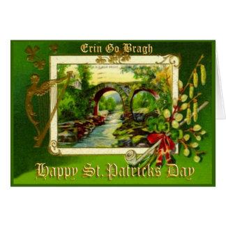 Vintage Gruß-Karte kein St. Patricks Tages24 Karte