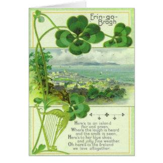 Vintage Gruß-Karte keine St. Patricks Tages17 Karte