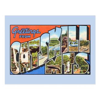 Vintage Grüße von Catskill Bergen Postkarte
