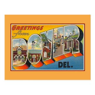 Vintage Grüße von Dover De Postkarte