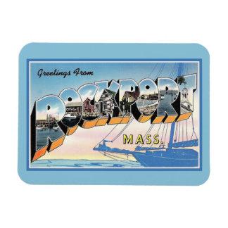 Vintage Grüße von Rockport Massachusetts Magnet