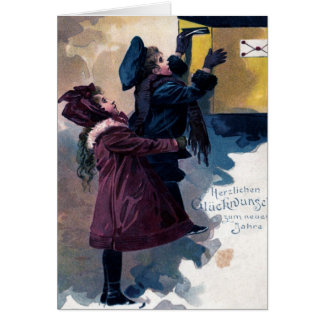 Vintage Grußkarte Neujahrsgrüße