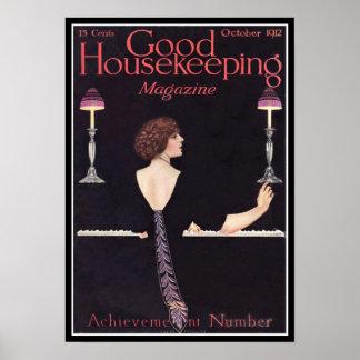 Vintage gute Haushaltungs-Zeitschrift 1912 KRW Poster