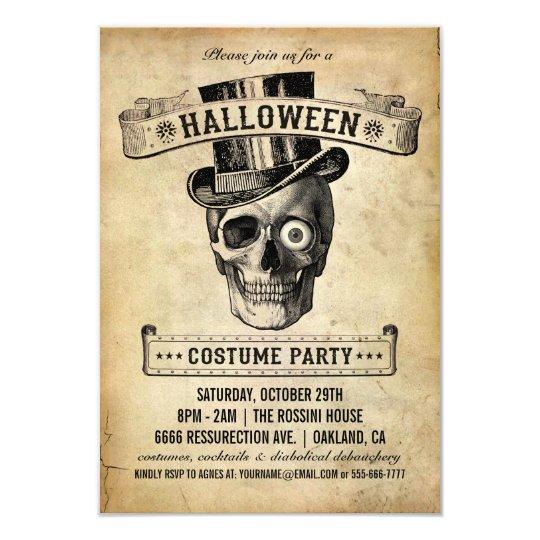Vintage Halloween Einladung   Kostu0026#252;m Party Karte