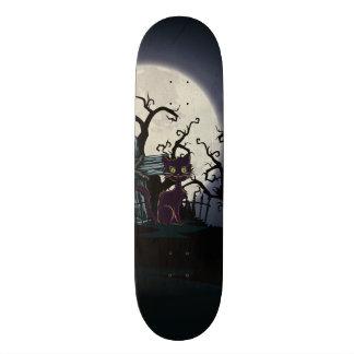 Vintage Halloween-Friedhofs-Katze 18,1 Cm Old School Skateboard Deck