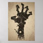 Vintage Halloween-Ikone - Zombie-Hand Poster