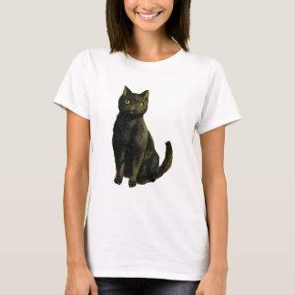 Vintage Halloween-Katze T-Shirt