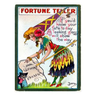 Vintage Halloween-Postkarte