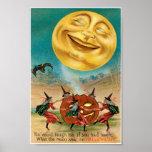 Vintage Halloween-Postkarte Poster