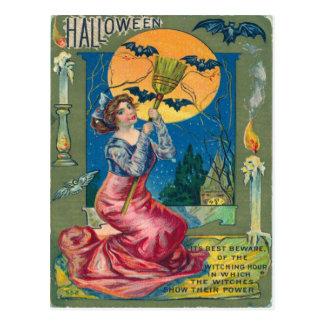 Vintage Halloween-Postkarte Postkarte