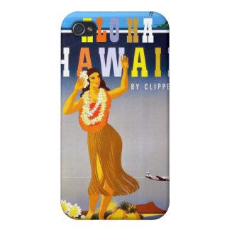 Vintage Hawaii-Reise-Anzeige iPhone 4 Etui