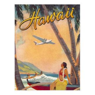 Vintage Hawaii-Reise Postkarte