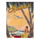 Vintage Hawaii-Reise Postkarten