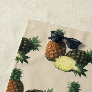 Vintage hawaiische Ananas, Bio Strandtuch