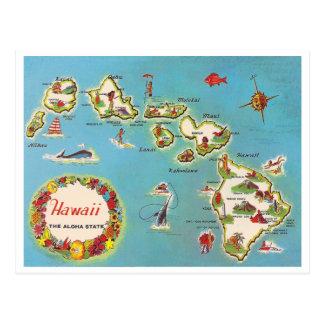 Vintage hawaiische Karte Postkarte