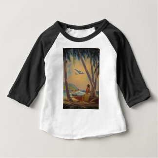 Vintage hawaiische Reise - Hawaii-Mädchen-Tänzer Baby T-shirt