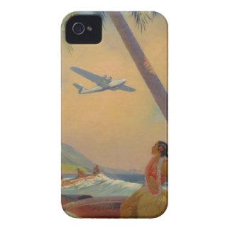 Vintage hawaiische Reise - Hawaii-Mädchen-Tänzer iPhone 4 Hüllen