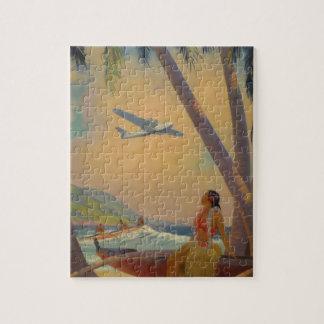 Vintage hawaiische Reise - Hawaii-Mädchen-Tänzer Puzzle