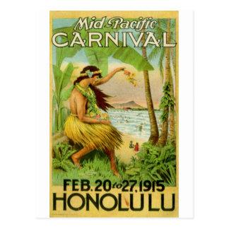 Vintage hawaiische Reise Postkarten