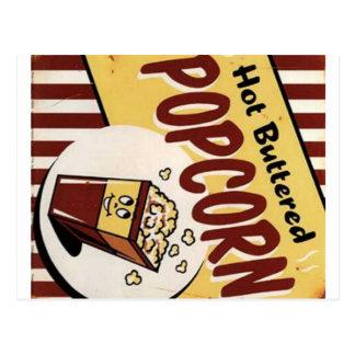 Vintage heiße gebutterte Popcorn-Anzeigen-Postkart Postkarte